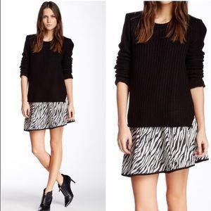 {S,L} Walter Baker Fun Zebra Print Skirt
